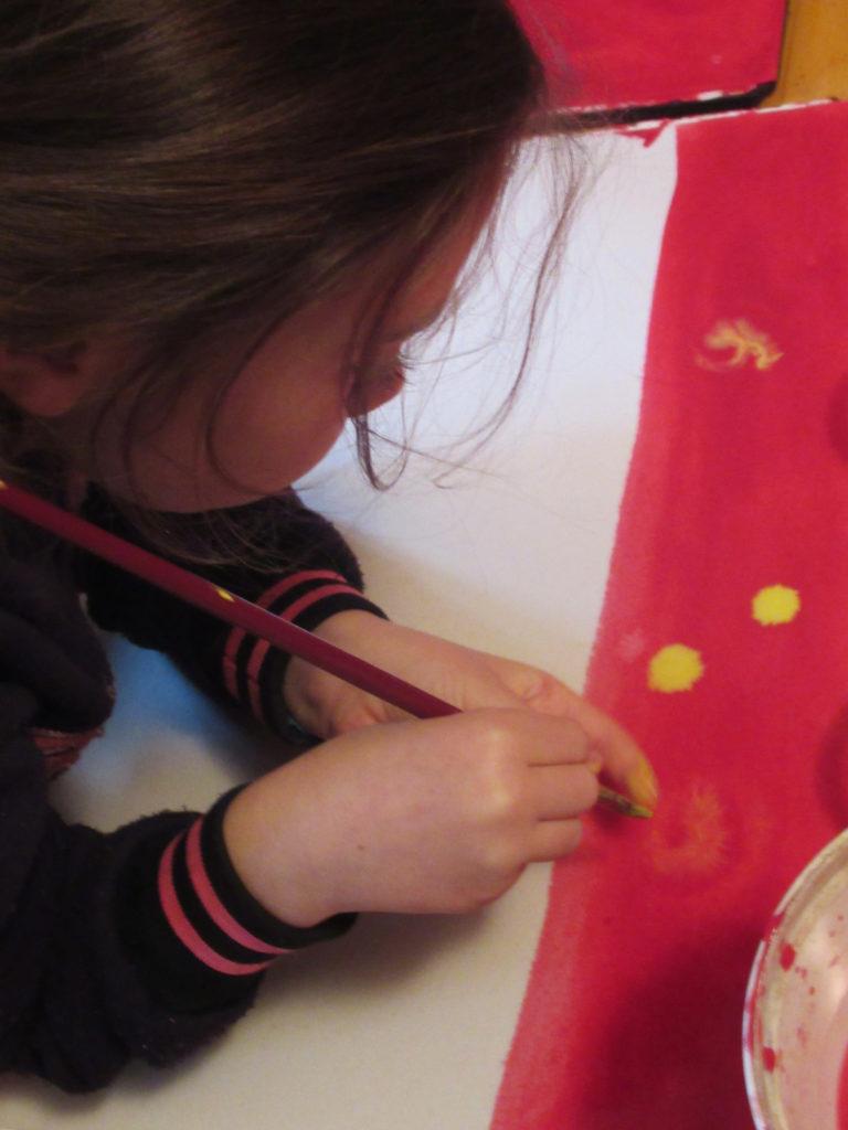 Ecole d'Eourres - Peinture