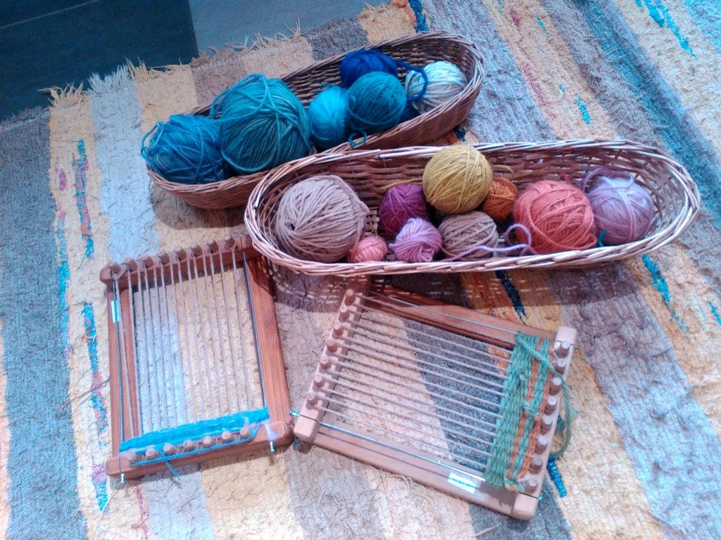 Micro-crèche - Tissage en laine